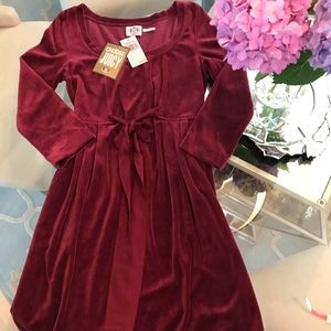 Juicy Couture NWT Crimson Velvet Dress Size Small